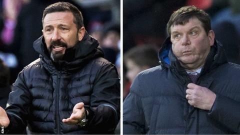 Aberdeen's Derek McInnes and St Johnstone's Tommy Wright
