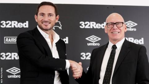 Frank Lampard and Derby County chief executive Mel Morris