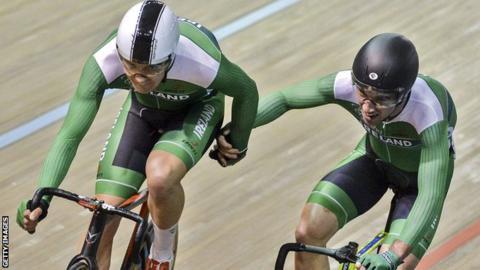 Mark Downey and Madison team-mate Felix English