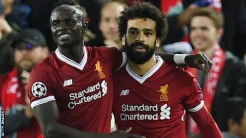 Liverpool duo Sadio Mane and Mohamed Salah