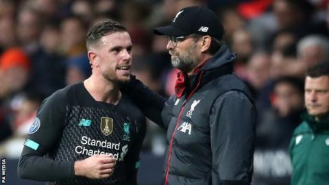 Jurgen Klopp (right) and Jordan Henderson