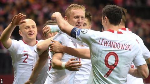 Poland celebrate scoring