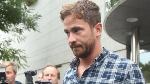 Danny Cipriani leaves court in Jersey