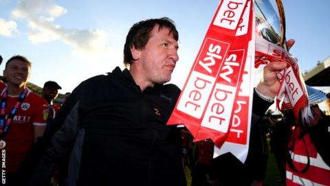 Daniel Stendel lead Barnsley to promotion from England's League One