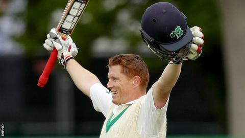 Kevin O'Brien notched 118 on the fourth day of the Test at Malahide