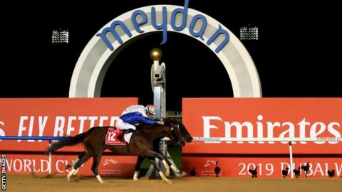Thunder Snow makes history with second Dubai World Cup