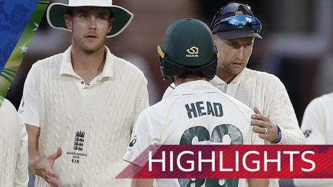 England v Australia Second Test day five highlights