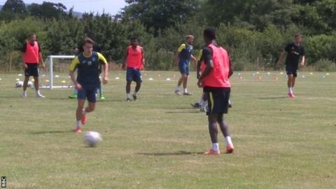 Torquay United training at Seale Hayne