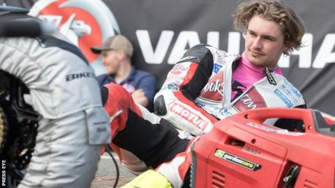 Malachi Mitchell-Thomas died after crashing during the Supertwins race on Saturday