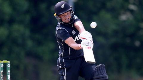 Bates, Green tons power New Zealand women to record ODI total