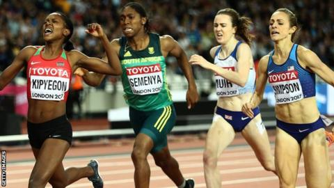 Laura Muir was run out of the 1500m medals over the last few metres