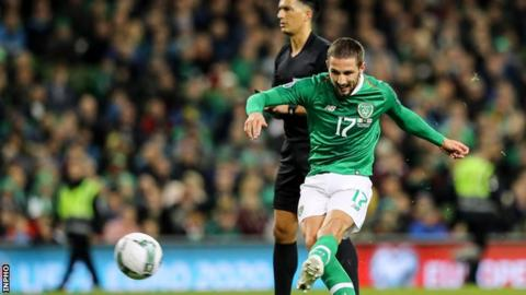 Conor Hourihane went close to putting the Republic ahead before curling in his superb free-kick