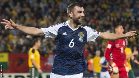 James McArthur has scored four goals in 32 Scotland appearances
