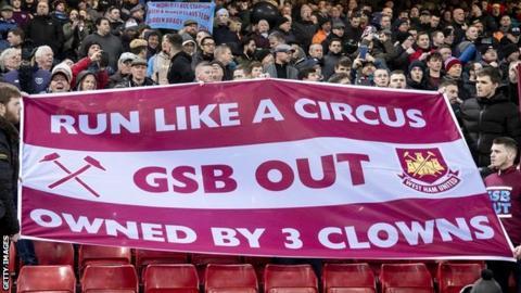 West Ham fans protest