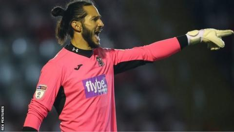 Dino Visser made just two appearances for Exeter but was a hero in one of them, saving all three penalties he faced in an EFL Trophy shoot-out