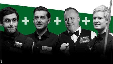 Ronnie O'Sullivan, Mark Selby, John Higgins and Neil Robertson