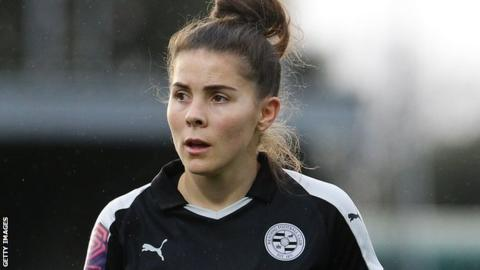 Brooke Chaplen playing for Reading