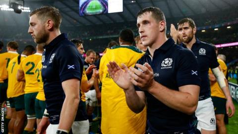 Scotland came within seconds of a semi-final place in the 2015 World Cup