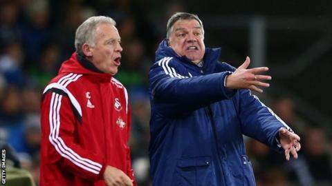 Alan Curtis (left) & Sam Allardyce