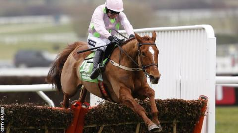 Ruby Walsh rides Annie Power to victory in the Champion Hurdle at Cheltenham in March