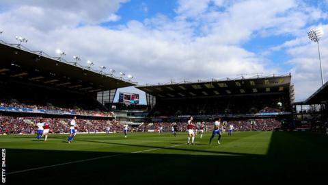 Turf Moor during Burnley's win over Cardiff