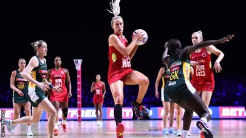 Netball World Cup 2019: England beat South Africa to book New Zealand semi-final