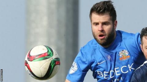 Defender Simon Kelly scored a crucial away goal for Glenavon