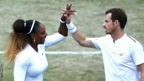 Andy Murray and Serena Williams celebrate Wimbledon win