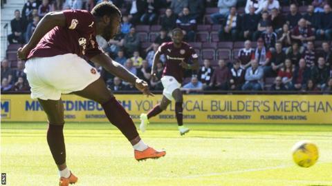 Isma Goncalves scores Hearts' opener