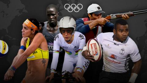 Rio Olympic hopefuls Fernanda, Guol Mading Maker, Laura Trott, Nasser Al-Attiyah and Jerry Tuwai
