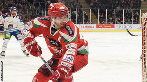 Joey Martin in action for Cardiff Devils