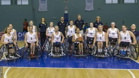 GB women's wheelchair basketball team