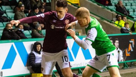 The Hearts v Hibernian Scottish Cup semi-final from last season is to be played this term