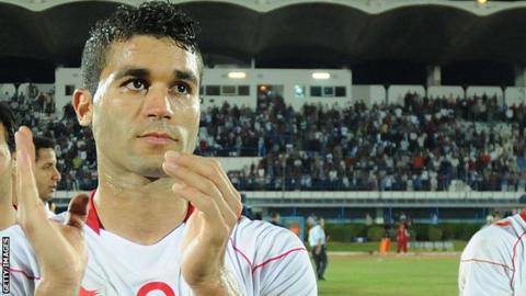 Belgian-based striker Hamdi Harbaoui