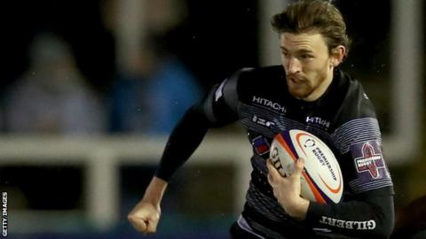 Simon Hammersley in action for Newcastle Falcons