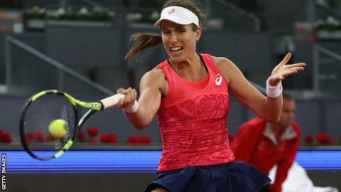 Johanna Konta has just three wins on clay in her career