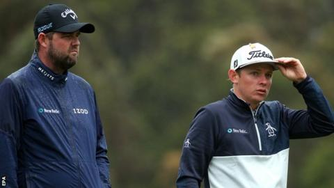 Marc Leishman and Cameron Smith playing at the World Cup of Golf
