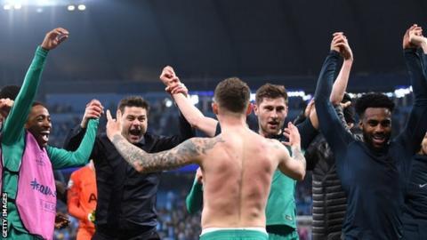 Tottenham celebrate