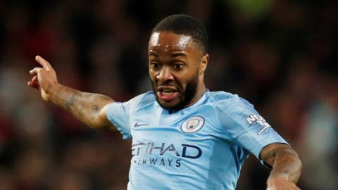 Manchester City forward Raheem Sterling