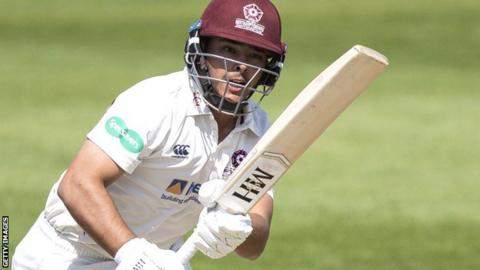 Ricardo Vasconcelos in action for Northamptonshire