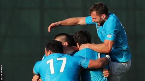 Uruguay have never won two games at one Rugby World Cup tournament