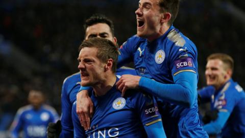 Vardy scores for Leicester