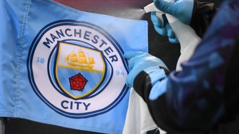 Man City corner flag