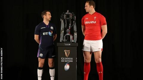 Scotland captain Greig Laidlaw and Wales skipper Alun Wyn Jones were team-mates on the British and Irish Lions tour of New Zealand in 2017