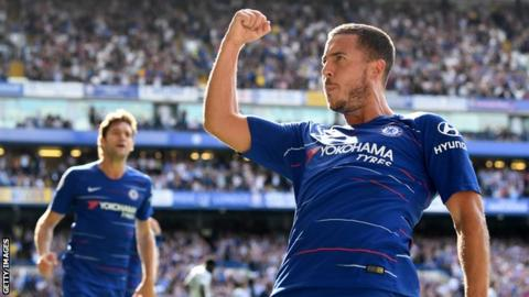 Eden Hazard has now scored five goals in his past three Premier League  games for Chelsea 8c94a1396fc