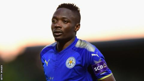 Nigeria and Leicester City's Ahmed Musa