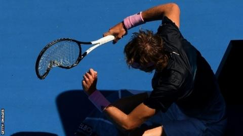 Zverev throws epic tantrum in Australian Open meltdown
