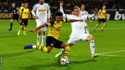 Sancho Scores Brilliant Opening Goal For Borussia Dortmund