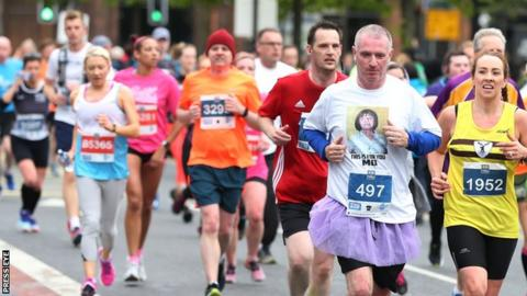 Competitors were forced to run 0.34 of a mile beyond the standard 26 miles and 385 yards distance