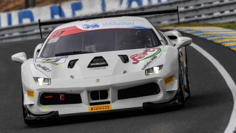 Le Mans: Adam Carroll stars in Ferrari Challenge race